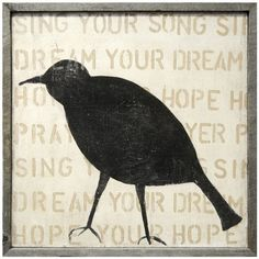 Sugarboo Designs Bird Silhouette Wall Art