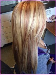 awesome Strawberry blonde with blonde highlights