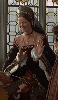 Anne Boleyn's Red Velvet Gown (Henry VIII and His Six Wives, 1972). I love this gown.