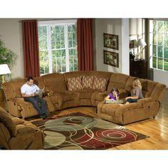 Catnapper Enterprise 4 Piece Chenille Reclining Sectional Sofa