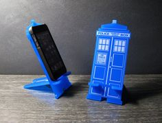 Doctor Who TARDIS iPhone Stand  http://www.geekalerts.com/doctor-who-tardis-iphone-stand/