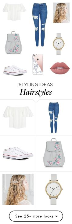 """Untitled #317"" by niniber002 on Polyvore featuring Valentino, Topshop, Converse, New Look, Casetify, Lime Crime and Skagen"