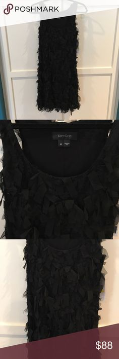 Sexy unique little black dress Karen Kane little black dress with mess pieces! Karen Kane Dresses