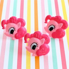 12 My Little Pony Cupcake Toppers/Rings. $4.00, via Etsy.