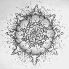 Silver Expression - wobbly mandala - Doodle, sketch, art, flower, drawing, zentangle, zendoodle, pattern, black and white, lines, curves