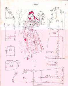FREE Vintage Coat Sewing Draft Pattern