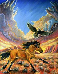 Spirit and eagle Morining Run by jupiterjenny on DeviantArt
