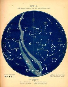 Vintage Constellation Map for Summertime Stargazing - the stars don't change, why not use this map?