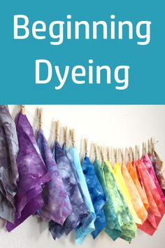 New to dyeing? Start here!