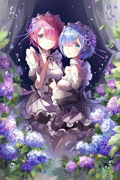 Ram and Rem XD [Re:zero Kara Hajimeru Isekai Seikatsu] Girls Anime, Anime Girl Cute, Beautiful Anime Girl, Kawaii Anime Girl, Anime Art Girl, Anime Love, Fan Art Anime, Ram Anime, Manga Anime