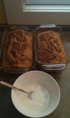 cake mix cinnamon swirl bread :) anything with cinnamon is better than it was before!