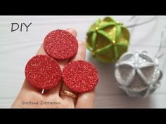 Foam Christmas Ornaments, Outdoor Christmas Tree Decorations, Christmas Arts And Crafts, Ball Decorations, Christmas Tree Toy, Christmas Baubles, Kids Christmas, Foam Crafts, Youtube
