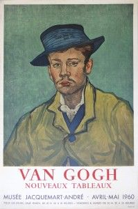 View this item and discover similar for sale at - Vincent van GOGH (after) Man with Blue Hat (Portrait de jeune homme, Stone lithograph after original oil painting of 1888 which is in Museum Folkwang Van Gogh Exhibition, Art Exhibition Posters, Vincent Van Gogh, Museum Poster, Van Gogh Art, Sick Kids, Western Art, Poster Prints, Poster Wall