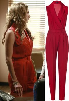 Mistresses Episode 6: Josslyn's (Jes Macallan) Rachel Zoe Red Edith II Jumpsuit #getthelook #mistresses