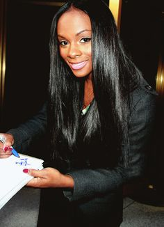 Tika Sumpter; Stunning beauty. Her hair is always so shiny!!