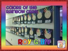Kindergarten Rainbows  Mr. ROY G BIV craft