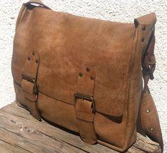 Beautiful handcrafted leather bag /messenger bag/ by kerenhandmade