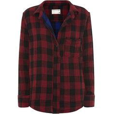 Rag & Bone Leeds Check Shirt (€280) ❤ liked on Polyvore featuring tops, shirts, flannels, blouses, red tartan shirt, tartan plaid flannel shirt, plaid top, flannel tops and red shirt