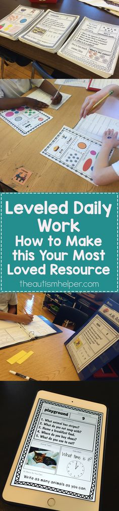 Check out our year-long resource for Leveled Daily Work! From theautismhelper.com #theautismhelper