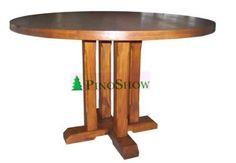 mesa redonda con base central recta en pino Base, Furniture, Home Decor, Colors, Round Dining, Mesa Redonda, Home Furniture, Pine, Dining Rooms