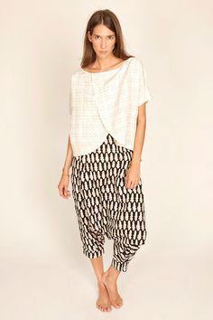 Ilana Kohn.  This looks very comfy, which is appealing; but I wonder -- are genie style pants making a comeback?