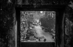 View from Teen Darwaja Gate IMG_9816 BW by Indresh Gupta