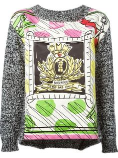 illustrated print sweater @MOSCHINO CHEAP & CHIC