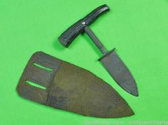 "Antique Vintage US Custom Made Push Dagger Knife 3.5"" blade 6.5"" overall"