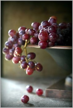 Thyme: Almond Cake with Orange Glaze, and Sugared Grapes.and soaring through the air Sugared Grapes, Pureed Food Recipes, Wine Cheese, In Vino Veritas, Almond Cakes, Harvest Time, Food Photography Styling, Fruit Art, Food Design