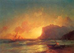 Картина Айвазовского Море. Коктебельская бухта. 1853г.