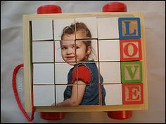 Make a photo block puzzle or your little one or her grandma this Valentine's day! #diy #crafts #valentines day