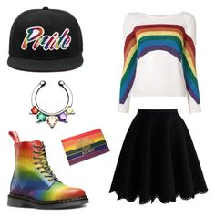 """""""LGBT Pride Party Outfit"""" by opezzop ❤ liked on Polyvore featuring Marc Jacobs, Chicwish and pride"""