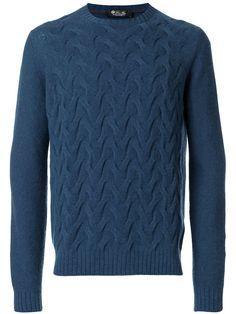Loro Piana Textured Weave Jumper In Blue Mens Fashion Sweaters, Sweater Fashion, Jumper, Men Sweater, Sweatshirt, Pullover, New York Style, My Wardrobe, Versace