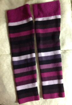Wool Felt Legwarmers Girls Upcycled by mcleodhandcraftgifts