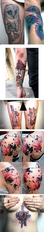 """Peter Aurisch...no lo conocía, me gusta el trazo fresco y menos """"dark"""" de otros tatuadores."""
