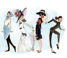 Audrey Hepburn illustrations