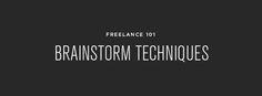 Freelance 101 :: Brainstorm Techniques + Resources - Erin Vale Design