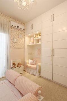 Girl Bedroom Designs, Room Ideas Bedroom, Rooms Home Decor, Home Interior, Interior Design Living Room, Bedroom Decor, Bedroom Built Ins, Small Master Bedroom, Kids Room Design