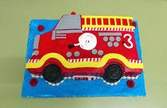 https://flic.kr/p/EduNHd | Fire truck shaped birthday cake