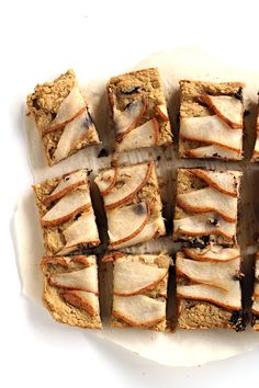 vegan dark chocolate pear blondies