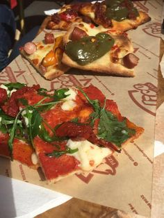 Today we had a delicious al-fresco lunch at Slice in Manchester's Northern Quarter. Manchester Northern Quarter, Pizza Project, Lunch Time, Fresco, Vegetable Pizza, Vegetables, Food, Fresh, Meal
