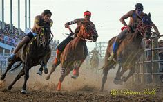 Mom was thrilled beyond words at the Omak Stampede watching her Native American cousins in the Suicide Race!