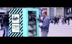Fast Fashion Vending Machine In Berlin Shows Consumers How Their Cheap Clothes Are Really Made Fast Fashion, Fashion Moda, Cheap Fashion, Euro, Cheap Shirts, T Shirts, Cannes, Good News, Guerrilla Marketing