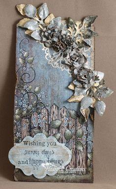 Heartfelt Creations | Floral Fence Tag