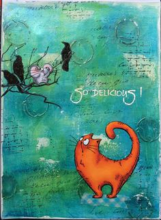 Hello everyone, Today I have made an art journal for my DT post over at Katzelkraft .
