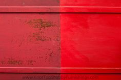 knot too shabby: The Red Piano-Painted in Milk Paint AND Chalk Paint®