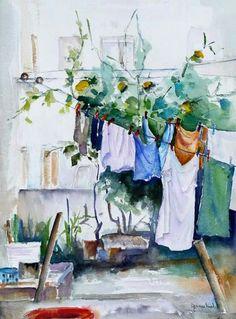 Tendal Aqua Paint, Paint Colors, Watercolours, Watercolor Paintings, Laundry, Drawings, Photos, Inspiration, Ideas