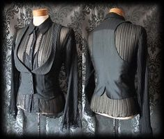this is one u strut in :) stomp Gothic Black Pinstripe Fitted DESOLATION by AusterexxDevotion, Steampunk Jacket, Gothic Outfits, Alternative Fashion, Boutique Clothing, Corset, Fashion Outfits, Women's Fashion, Trending Outfits, My Style
