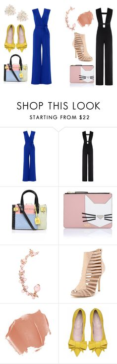 """Simplicity"" by britscarike on Polyvore featuring YOANA BARASCHI, La Mania, Kurt Geiger, Karl Lagerfeld, Joanna Laura Constantine, Cara, simple, Elegant, jumpsuit and polyvoreeditorial"