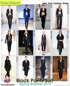 Black Pants Suit Fashion #Trend for Spring Summer 2014 #Spring2014 #black #Colors #Trends